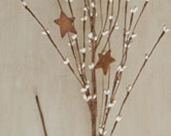 "Ivory 24"" Pip Berry Spray with Rusty Stars"