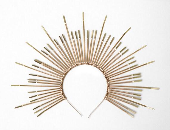 MARY HALO CROWN Spiked sunburst headband Plastic Zip Ties