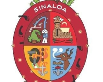 2 Pieces Sinaloa Mexico. Coat Of ArmsDecals Stickers Full Color/Weather Proof. U.S.A Free Shipping