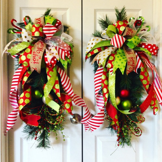 Christmas Wreaths For Double Front Doors: Christmas Wreath Christmas Swags Christmas By