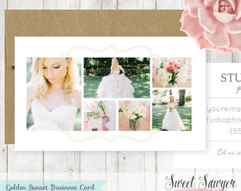 INSTANT DOWNLOAD - Wedding Photographer Business Card Template