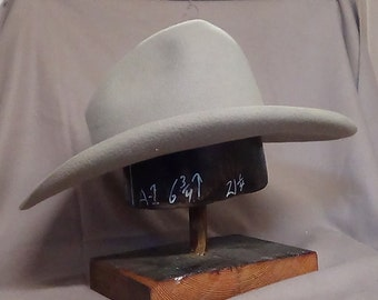 Sharpshooter Hat -  Quigley hat -  movie style hat - vintage stye hat - Western Wear hat -  beaver cowboy hat - cowboy hat - custom fitted