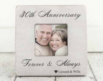 Wedding Anniversary Engagement GIFT 30th Anniversary 10th 20th 40th 50th Anniversary Gift Personalized Picture Frame