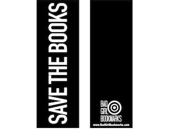 SAVE THE BOOKS Bookmark