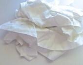 Fabric Scraps, White Quilting Scraps, One Gallon Grab Bag, Destash by 8th Day Encore