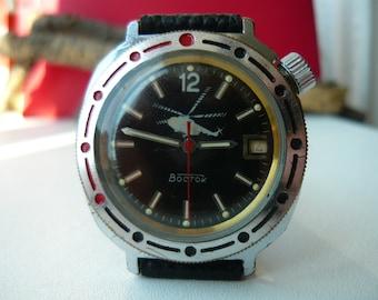 Vostok Komandirskie / Vintage wrist watch / men's Watch Vostok / helicopter/ copter / Mechanical watch / USSR / Soviet Union