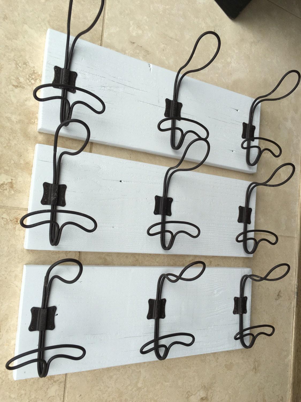 Wire Locker Room Wall Hooks On Reclaimed Wood Wire Hook