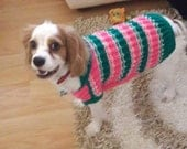 handknitted dog sweater,pet clothing,sweater,striped,dog costume,soft and warm,knitting dog sweaters,small dog,big dog cloth,apparel,large