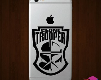 Star Wars Clone Trooper Vinyl iPhone Decal -  Multiple Colors Available!