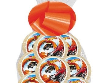 12pack Hot Wheels Individually Wrapped Baked Birthday Party Favor Cookies