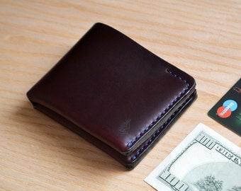 Bifold Wallet in Horween Chromexcel Burgundy leather.