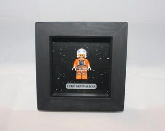 Lego Star Wars Luke Skywalker & Princess Leia Framed Figures