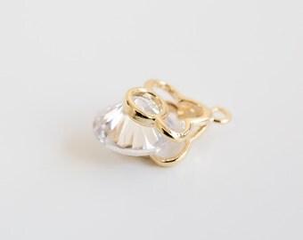 Flower charm,Flower jewel,Flower,Flower Pendant,Jewelry,Pendants,charm,gift,cute supply,Simple,supplies,Unique pendant,Wish,special,cz