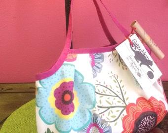 Handbag flowers and polka dots