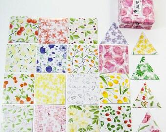 40 sticker set / watercolor flowers / DIY Filofaxing scrapbooking Aufkeber