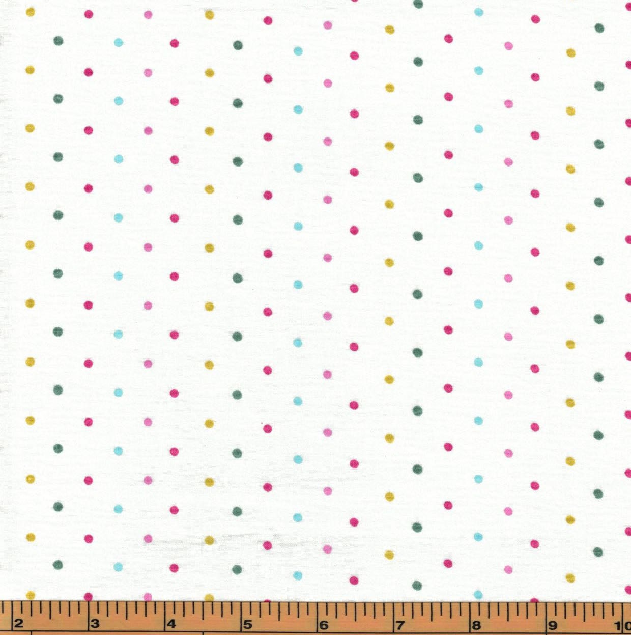 Multicolor pink dots on white background tweetie pie for Galaxy fabric canada