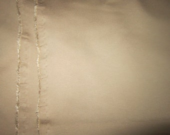 Tan Beige Ponte Knit Fabric by the Yard Double Knit Spandex Stretch Lycra Jersey Fabric Clothing Apparel Fashion Fabric Knit