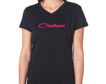 Challenger Glitter Women's V-neck Shirt