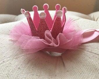 Pink Princess crown headband