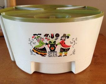Four Vintage Retro 60s Plastic Kitchen Canister set