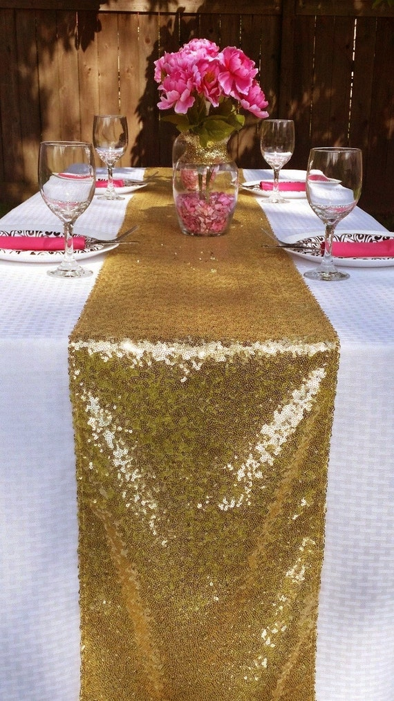 12 x 108 gold table runner christmas sparkly