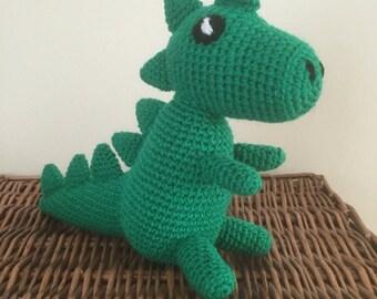 Handmade dinosaur toy, crochet toy