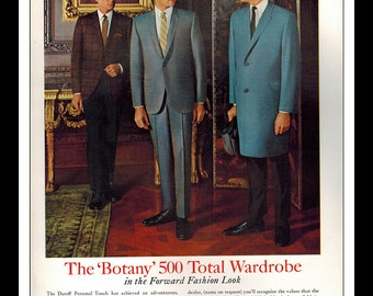 "Vintage Print Ad October 1965 : Botany 500 by Daroff Fashion Clothing Wall Art Decor 8.5"" x 11"" Advertisement"