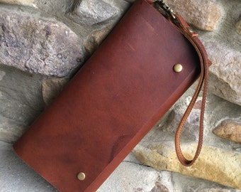Womens Leather Wallet, Leather smart phone wallet, womens wallet, women's wallet, long wallet