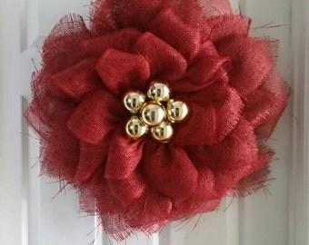 Poinsettia wreath, Christmas wreath, Christmas poinsettia, front door wreath, Christmas decor, Poinsettia decor, christmas, floral wreath