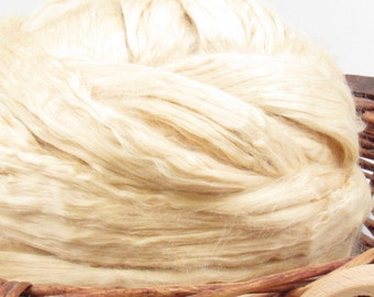 Natural Soybean Roving - Spinning Fiber / 1oz