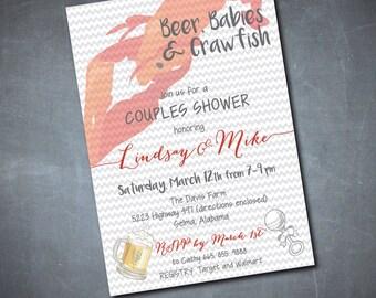 Crawfish Boil Invite, crawfish invitation, crawfish party, beer and crawfish party, crawfish boil, low country boil/Digital File