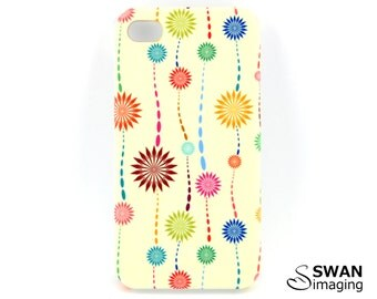 Coloured Floral Star Pattern iPhone Case ~ iPhone 4 - iPhone 4S