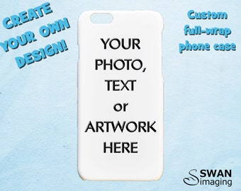 Custom iPhone Case - iPhone X, iPhone 8, iPhone 8 Plus, iPhone 7, iPhone 7 Plus, 4/4S, 5/5S, 5C, iPhone SE, iPhone 6/6S, iPhone 6/6S Plus