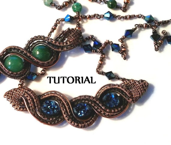 TUTORIAL Double Twisted Wire Weave Necklace