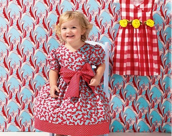 Kwik Sew sewing pattern K0134 (K134) Toddlers' Dresses, 2 Styles, Toddler Girls, Girls, Children - new and uncut