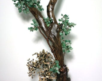 Gemstone decoration for home and office / handmade tree / wire tree, office desk accessories