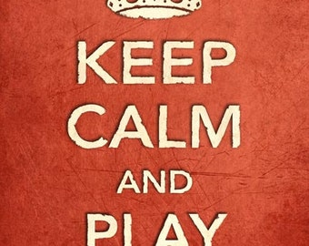 CR5 Vintage Style Shabby Chic Red Keep Calm And Play Rugby Funny Sport Hobby Poster Print Wall Decor A2/A3/A4