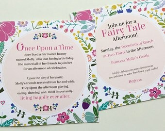 Once Upon a Time...Fairy Tale Birthday Party Invitation