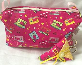 Craft bag with matching scissor holder.