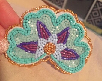 Floral barette