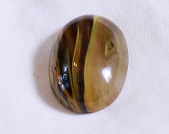 Copper Rutilated Quartz Oval Cabochon Bead 25mm x 18mm x 6mm c60185