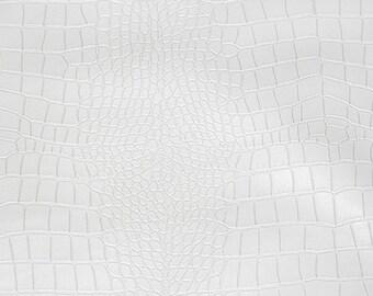 Crocodile Fabric: White