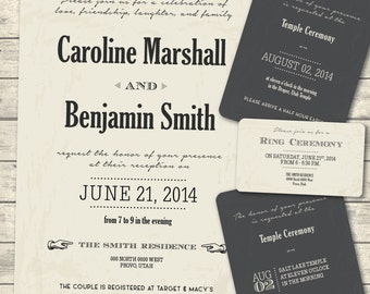 vintage lds wedding invitation package retro wedding invite lds wedding digital