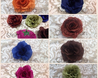 50 Royal Blue Silk Rose Heads - Silk Wedding Roses