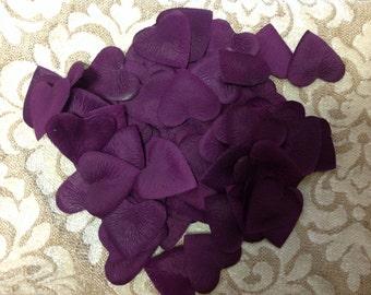 1,000 Grape Purple Heart Petals - Grape Aritifical Heart Shape Petals