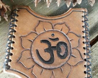 Custom Leather Om Card Holder