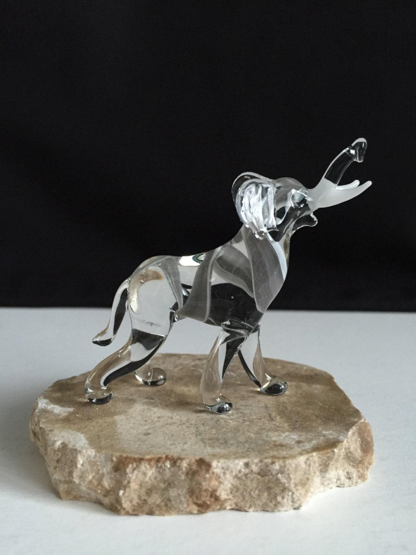 Handblown Glass Elephant Sculpture