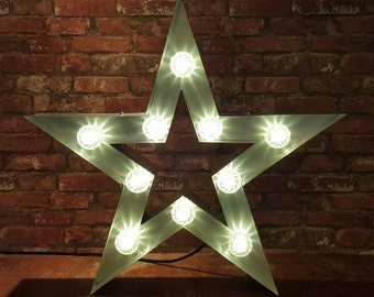 Marquee light up 5 Pointed Star.