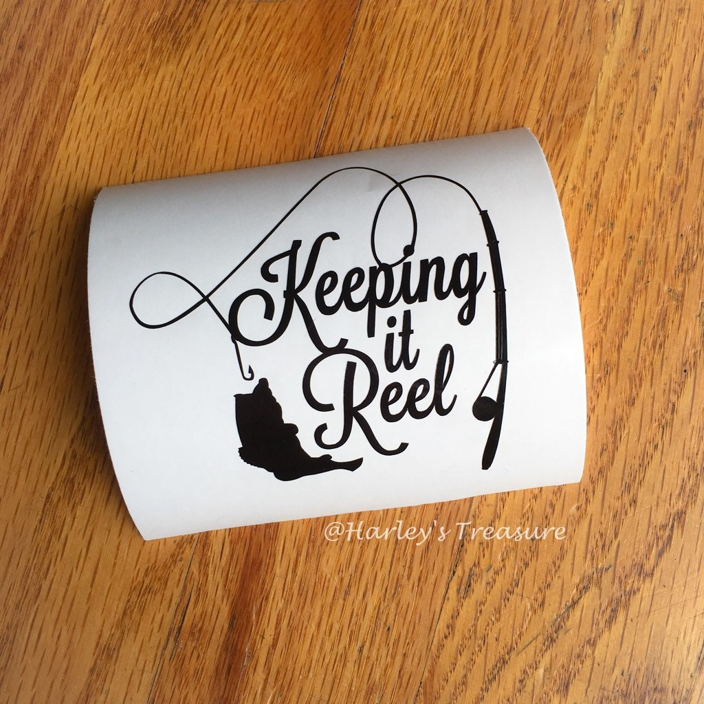 keeping it reel fishing monogram vinyl decal by