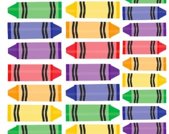 NEW Colorful Crayon Stickers